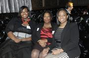A 40 Under 40 finalist and her supporters hang out at the awards party at Cafeteria 15L.