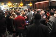 The crowd mingles after the 40 Under 40 awards Thursday night at Cafeteria 15L.