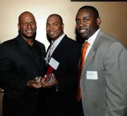 Mark Adams, Darrell Teat and Jose Bodipo-Memba at the Sacramento Business Journal's 40 Under 40 celebration Tuesday.