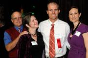 Elizabeth Edwards, finalist Austin Edwards and Kaycie Edwards at the 40 Under 40 event at District 30.