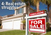 Real estate struggles — While some segments of the real estate market showed signs of life, the residential market remained on life support throughout 2011.