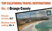 No. 4. Orange County, with 10.7 percent of visits in 2010. The destination ranks No. 4 for business travel.