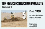 Township 9, at Richards Boulevard and N. 7th Street, features infrastructure for master-planned, mixed-use and transit-oriented development. The expected construction cost is $38 million with an expected completion date of June 2013.