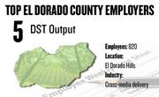 No. 5. DST Output, El Dorado Hills, has 820 employees.