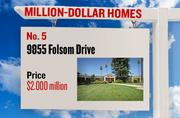 No. 5. 9855 Folsom Drive, with an asking price of $2.000 million. The 5,906-square-foot house was built in 1987 and has 3 bedrooms and 6 bathrooms. It sits on a property of 2.07 acres. The listing, first posted on Aug. 7, 2012, is here.