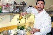 Biba Restaurant chef Steve Toso makes a batch of Italian salsa verde.