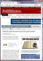No. 6 -- Which California universities have the highest CPA exam pass rates slideshow (September)