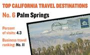 No. 6. Palm Springs, with 4.3 percent of visits in 2010. The destination ranks No. 11 for business travel.