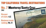 No. 7 (tie). Monterey/Santa Cruz, with 4.2 percent of visits in 2010. The destination ranks No. 9 for business travel.