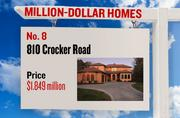 No. 8. 810 Crocker Road, with an asking price of $1.849 million. The 4,160-square-foot house was built in 2003 and has 4 bedrooms and 5 bathrooms. It sits on a property of 0.61 acres. The listing, first posted on Jan. 30, 2013, is here.
