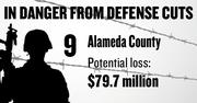 No. 9. Alameda County, with 2,680 contracts worth $847.4 million in 2011 and a potential loss under sequestration of $79.7 million.