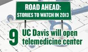 No. 9. Med Tech: UC Davis will open a $35 million hub for research and training in telemedicine on the UC Davis Health System campus in Sacramento.