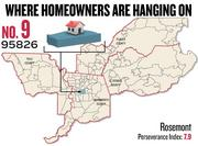 No. 9. 95826 in Rosemont, with a Perseverance Index of 7.9. The ZIP code had a delinquency rate of 7.3 percent and a negative equity rate of 57.7 percent in the first quarter, according to Zillow.