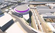 The city of Sacramento released this new rendering of the proposed downtown arena.