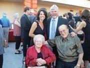 Joe Benvenuti, seated right, with Nancy Benvenuti. Standing are Dawn Gately and JB Co. vice president Jim Gately.