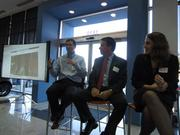 From left:Josh Morgan of Edelman Digital,Don Vilfer of Califorensics and Meredith Packer Garey of Kronick Moskovitz Tiedemann & Girard.The three appeared on a panel sponsored by the Sacramento Business Journal at Mercedes-Benz of Sacramento about the risks of social media for employers.