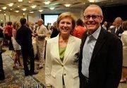 Sandra Kirschenmann, Drexel University executive director, and Garry Maisel, Western Health Advantage president and CEO.