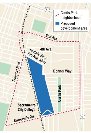 Developers of the proposed Curtis Park Village have submitted a revised plan to the city of Sacramento that would add more single-family homes, move the multifamily homes and reduce the potential amount of commercial development.
