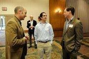 From left: Matt Melcher of Lionakis and Nathaniel Sebok and Renner Johnston of Mogavero Notestine Associates at the Sacramento Business Journal's 2012 Structures breakfast.