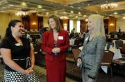 From left: Adena Peterson, Teri Crisanty and Christie Travis-Shorrock of Western Contract at the Sacramento Business Journal's 2012 Structures breakfast.