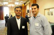 From left: Arun Kaiwar of Stantec and Kashal Diwan of DPR Construction at the Sacramento Business Journal's 2012 Structures breakfast.