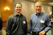 From left: John Taylor and Eric Winje of DPR Construction at the Sacramento Business Journal's 2012 Structures breakfast.