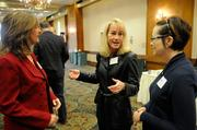 From left: Teri Crisanty of Western Contract, Julia Burrows of Greenwise Joint Venture and Liz Salmi at the Sacramento Business Journal's 2012 Structures breakfast.