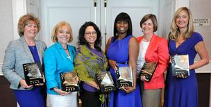 Women Who Mean Business honorees, from left, Toosje Koll, Sacramento managing director of Resources Global Professionals; Faith Whitmore, executive director of Francis House Center; Jenine Windeshausen, Placer County's treasurer and tax collector; Martha