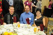 Dan McVicker, Scott Warner and Varsik Karpetyan of CLAS Information Systems at the Sacramento Business Journal's 2012 Healthiest Employers Award luncheon. The company was a finalist in the small business category.