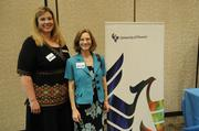 From the University of Phoenix, from left, Jenny Misirli and Jennifer Frei.