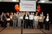 """Representatives of companies selected as finalists at the Sacramento Business Journal's annual """"A-plus Employers"""" event for local companies selected as the best places to work."""