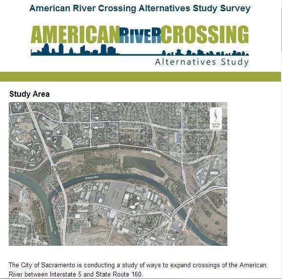 When the city of Sacramento looks for some feedback on crossing the American River from the downtown area into Natomas, there'll be nine options to choose from, though only three are the recommended alternatives.