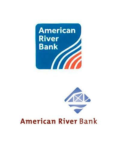 American River Bankshares is adopting a new logo, top, as it consolidates its branches under a single name. The former logo of American River Bank is at the bottom.