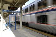 A train at the Sacramento Valley Station or Amtrak Depot. A project to structurally retrofit the Amtrak Depot at Fifth and I streets, better known as Sacramento Valley Station, has been allocated funding.