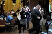 """""""A-plus employers"""" winners were given a paparazzi-style treatment by Business Journal staff at the awards ceremony."""