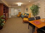 Renovation and expansion atAtria Senior Living's Covell Garden in Davis included adding this library. Other work included addingan elevator, fitness center, beauty salon, preparation and demonstration kitchens, activity center, outdoor courtyard and expanded living and dining areas.