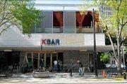 A new sign for KBAR at the K Street entrance for the bar and Cafe Bernardo.