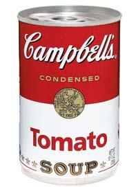 Campbell's tomato soup can
