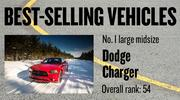 No. 1 large midsize. Dodge Charger, with 3,990 new vehicles registered in 2012. The vehicle ranked No. 54 among all models.