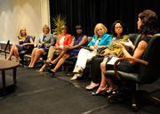 Elisabeth Brinton, far right, chief customer officer at Sacramento Municipal Utility District, moderated a panel discussion with the honorees.