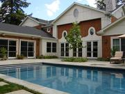 Custom-home buyers are asking for outdoor amenities such as this pool.