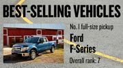No. 1 full-size pickup. Ford F-Series, with 25,434 new vehicles registered in 2012. The vehicle ranked No. 7 among all models.