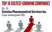 No. 10. El Dorado Hills-based Envision Pharmaceutical Services Inc., a provider of specialty health care products and services, including prescription benefits management for self-insured clients, had revenue growth of 115 percent between 2008 and 2010. Established in 2001, it has 425 employees.