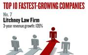 No. 7. Folsom-based Litchney Law Firm, which provides legal services, had revenue growth of 135% between 2008 and 2010. Established in 2006, it has 25 employees.