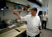 Chef Christian Palmos is in the kitchen of the Firestone Public House with Jennifer Bulotti and Mason Wong.