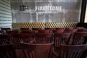 View of a decorative wall at the Firestone Public House.