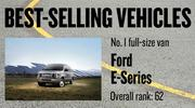 No. 1 full-size van. Ford E-Series, with 2,937 new vehicles registered in 2012. The vehicle ranked No. 62 among all models.