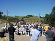 Spectators gather at the May 11 dedication of the new $4.5 million mill at the Lincoln Mine, which is being developed by Sutter Gold Mining. The mine is just south of the center Amador City,  on the way to Sutter Creek.