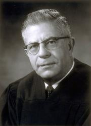 Chief Justice Roger Traynor was best known for his service on the California Supreme Court from 1940 to 1964, including as chief justice from 1964-1970. He authored more than 900 decisions, many of which are considered the court's most innovative and influential. A 1948 opinion struck down a law prohibiting interracial marriage. And in 1952, he issued an opinion that paved the way for no-fault divorce. He is also known for creating the area of law that became products liability. He died in 1983.