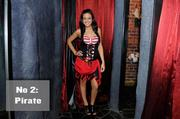 No. 2. Pirates are definitely in, thanks to movies like the Pirates of the Caribbean franchise. Sacramento Business Journal audience development coordinator Ruvi Bazaz tests the look out at Evangeline's Costume Mansion.